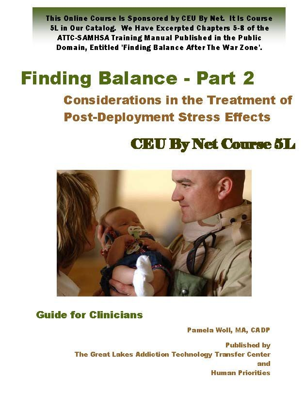 Finding Balance After the War Zone - Published by SAMHSA and ATTC