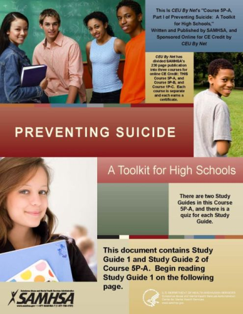 Suicide Prevention - a SAMHSA Tool Kit for High Schools